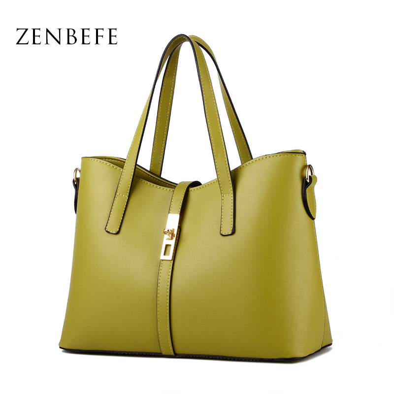 ZENBEFE Fashion Women Bag PU Leather Women Handbag Large Shoulder Bags Elegant Lady Tote Casual Purse Bolsa Clutch Capacity Bag<br><br>Aliexpress