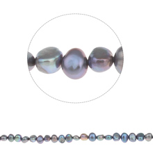 YYW Baroque Cultured Freshwater Pearl Beads,Sexy Jewelry, purple, 7-8mm, Hole:Approx 0.8mm, Sold Per Approx 15 Inch Strand(China)