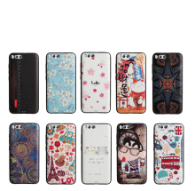 Xiaomi 6 Silicone Case 3D Relief Painting Slim Silicon TPU Cell Phone Protector Funda Capa Back Cover For Xiaomi 6(China)