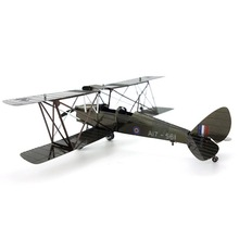 Colorful Ww2 De Havilland Dh 82 Tiger Moth Airplane Fun 3D Metal DIY Miniature Model Kits Puzzle Toys Children Educational Boy(China)