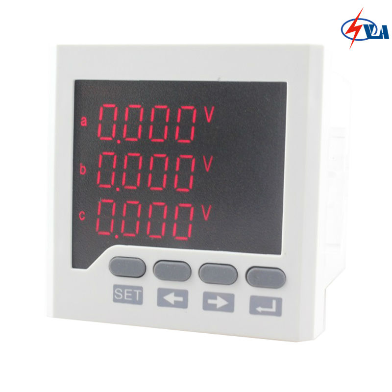 3D63 220V panel size 72*72mm ammeter voltmeter three-phase LED Multimeter<br>