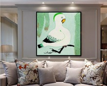 2017 New Design American Style  Green Parrot Bird Canvas Prints  Canvas Kunst Home Decor Art Muur Foto 279