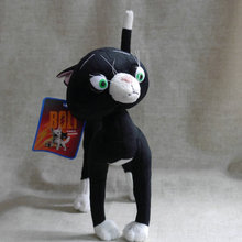 "Cartoon Movie Series plush game Bolt Dog The Black cat Mittens 9"" 21cm Stuffed Plush doll toy(China)"