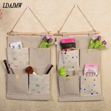 LDAJMW Household necessities! Arrival Vintage Storage Bag Wardrobe Back Door Wall Storage bags Hanging Bag Sundries Organizer