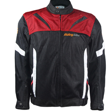 Motocross Jacket Summer motorcycle jacket breathable light riding tribe moto protective clothing with 5pcs protectors