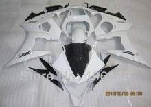 Hot Sales,Yzf 600 R6 03 04 full set For Yamaha Yzf R6 2003 2004 Sport Motorcycle Full White Body kits (Injection molding)(China)