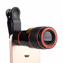 Free Shipping Universal 12X lens kit external camera mobile phone zoom optical telescope