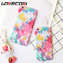 Buy LOVECOM Phone Case iPhone 6 6S Plus Hot Colorful Scale Frosted Hard PC Phone Back Cases Full Body Cover for $2.23 in AliExpress store