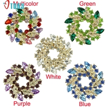 Brooches OTOKY Gussy Life 5 Colors Women Lady  Accessories Crystal Circle Flower Interspersion Breastpin Wedding Brooch Pins 623
