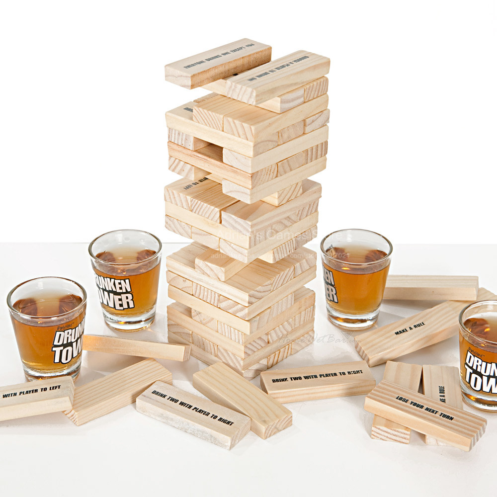 Drunken Tower Jenga games The Crab A Piece-Hot Drinking Games Bingo A Nice Christmas Gift - Night club party games - Wine games<br><br>Aliexpress