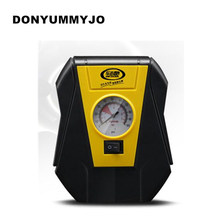 Portable Electric Car tire inflator pump 12V Car Air Compressor Pump LED Light Inflatable Pump for Outdoor Emergency(China)