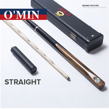New O'min 3 4 Snooker Cue Stick Billiards 10mm Tips Star Marks Model 3 4 Snooker Cues Case Set China(China)