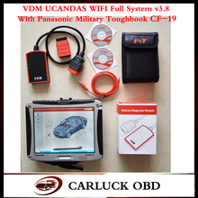 2016 VDM UCANDAS WIFI v3.8 Auto Diagnostic tool with super Panasonic Military toughbook CF-19 ready to use
