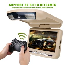 9 inch Roof Mount Car DVD Player with USB SD MP5 IR FM Transmitter,Wireless games(China)