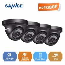 SANNCE full hd 1080P CCTV Security Camera 4pcs 2.0MP indoor outdoor weatherproof surveillance camera with IR night vision(China)