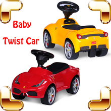New Year Gift LF Baby Twist Car Ride On Toy Cars For Kids Children Safety Four Wheel Swing Vehicle Slide Walker Outdoor(China)