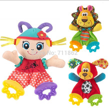 Sozzy new arrival  animal placate appease towel with response paper  teether  kid children developmental