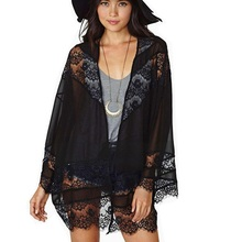 New Swimwears Bathing Suit Cover Ups Sexy Crochet Black Lace Pareo Beach Dress Summer Bikini Swimsuit Cover Up Cardigan Feminino