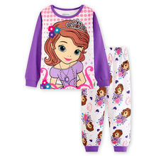 Children's pajamas set Spring&autumn fashion cartoon baby girls clothing set 100% cotton girl's pyjamas Sleepwear princess p032