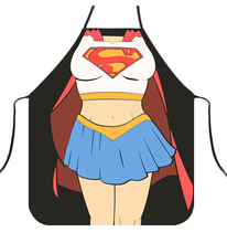 Funny Aprons Novelty Wonder Woman Cooking Apron for Fancy Dress For Gift design lovers gift