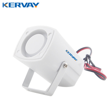 Wired White Mini Siren For Home Alarm Security Systems For PG500 G90B Protection Security 120dB Personal Alarm