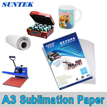 100 Sheets A3 Size Dye Sublimation Transfer Paper for Mug Cup Plate Polyester T-shirt(China)