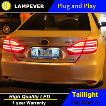 Lampever LED Tail Lamp for Toyota Camry Taillights 2015 New Camry Rear Light DRL+Turn Signal+Brake+Reverse auto Accessories l