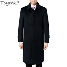 Tcyeek Winter Mens Long Coats 3XL Men's Woolen Jackets Cashmere Coat Business Casual Wool & Blends Jacket Man Coat Cloth HH147(China)