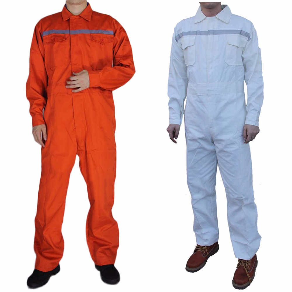 Men Work Overalls Reflective strip Long Sleeve Safety Coveralls Factory Uniforms Workwear Cotton Repairman Auto Repair Plus Size<br>