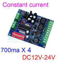Constant Current 700ma High-power 4CH RGBW dmx Controller,drive ,DMX512 decoder For led