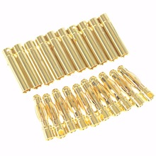 Wholesale 500Sets/Lot 4.0mm Gold Bullet Connector Plug Female Male for RC Battery ESC Electric Motor Cable Wire Accessories(China)