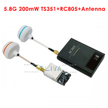 FPV 5.8Ghz 200mw Wireless Audio Video Transmitter Receiver 5.8G Cloverleaf RC MultiCopter DJI Phantom Gopro Hero3