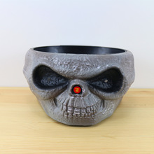 Funny Electric Halloween toys ghost horror demon sound bowl talons Trick toys with sound and light(China)