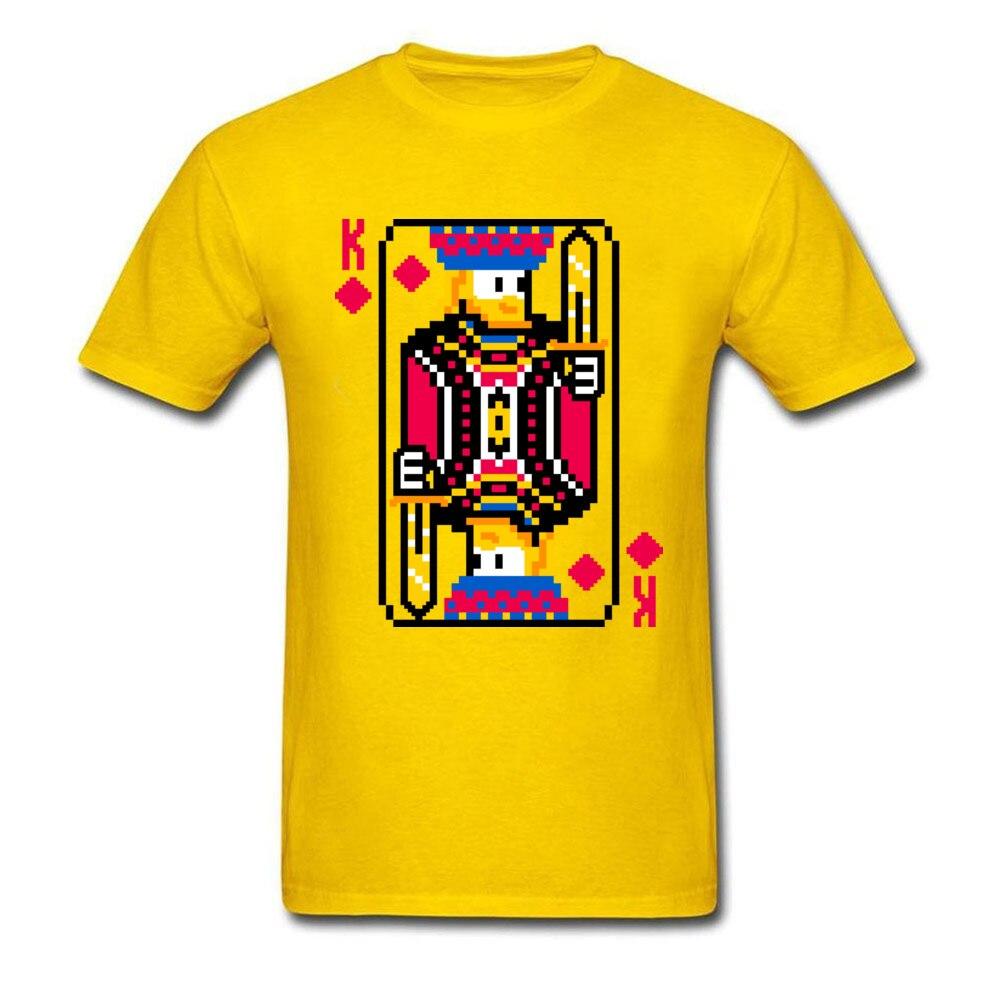 King of Diamonds Graphic Mens T Shirt Crewneck Short Sleeve Cotton Tees Summer T-shirts Free Shipping King of Diamonds yellow