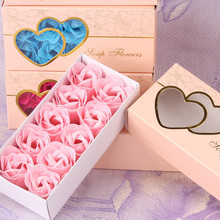 10pcs/box Handmade Soap Flower Artificial Roses High Grade Box-packed Romantic Valentine's Day Gift Wedding Flowers Home Decor(China)