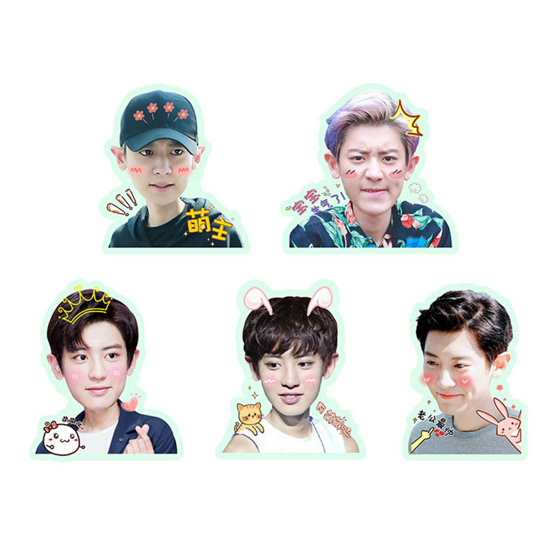 Humorous Kpop Exo Sehun Chanyeol Cute Pvc Sticker For Laptop Cup Notebook Scrapbook Diy Stickers Waterproof Moderate Price Jewelry & Accessories