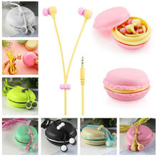 Marsnaska bests macaroon Earphones 3.5mm in-ear earphone with macaroon case&Mic for Xiaomi Samsung Sony Apple iphone phone(China)