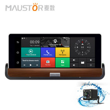 Maustor 7 inch 3G GPS WiFi Android 5.0 Dashboard GPS Navigation Dual Lens Bluetooth FHD1080P 1GB RAM Rear View Camera DVR