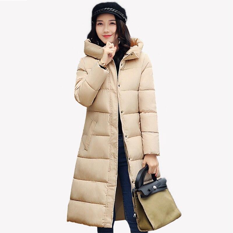 Winter Coat Women 2017 Thick Warm Winter Jackets Female Fur Collar Hooded X-Long Parka A version Coat Windproof Outerwear FP0092Îäåæäà è àêñåññóàðû<br><br>