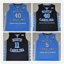 #40 Harrison Barnes #5 Marcus Paige #11 Brice Johnson North Carolina Tar Heels College Basketball Jersey All Size