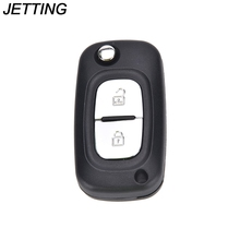 JETTING Remote Key Shell refit for RENAULT Clio Megane Kangoo Modus Replace 2 buttons folding remote key Flip(China)