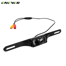 Onever Car Reverse Backup Parking Camera Night Vision Car Rearview Camera Car Park Monitor 170 Degrees Mini Car Rear View Camera
