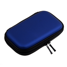 "Best Portable Hard Disk Drive Shockproof Zipper Cover Bag Case 2.5"" HDD Bag Hardcase Black,Blue(China)"