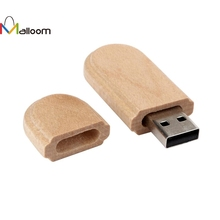 Malloom Gift Sale Fashion New PC Accessories Hot Selling Sale Wooden USB 2.0 32GB Flash Drive Pen Drives Wood U Disk(China)