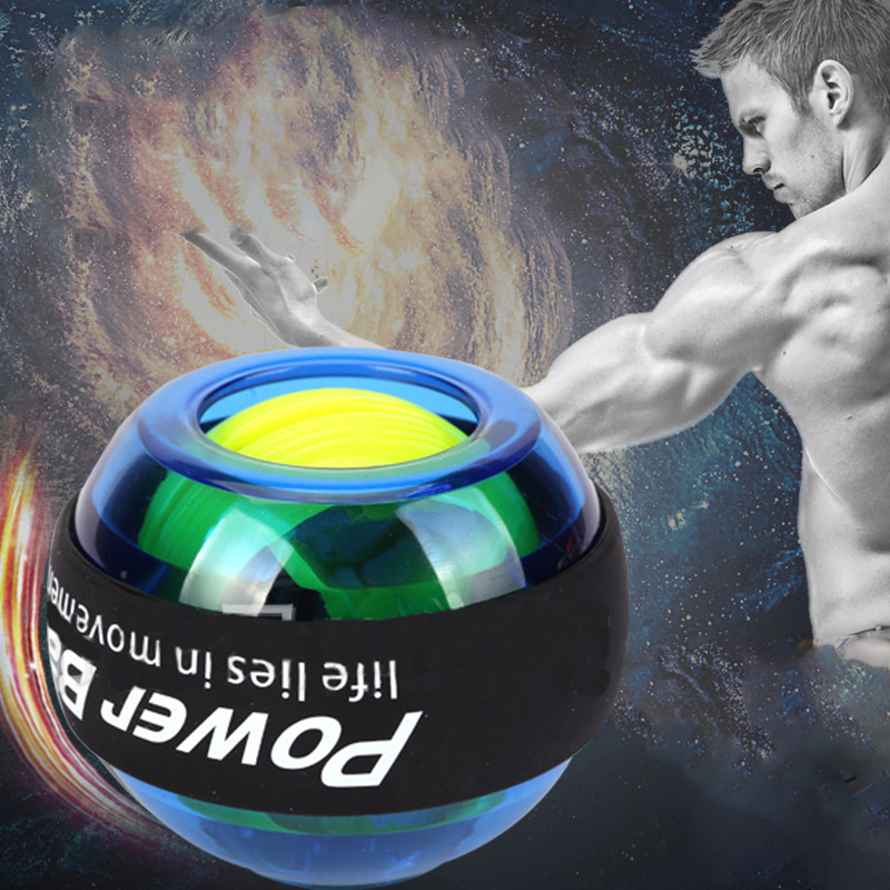 Gyroscope PowerBall LED Lights Power Wrists Hand Arm Strength Excercise Balls Power Strengthener(China (Mainland))