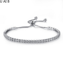 Luxury Round Cubic Zirconia Bracelet for Women Wedding Jewelry  - studded bracelet personality ladies bracelet wild jewelry