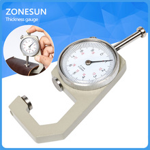 1pcs Dial Thickness Gauge Flat Head  0-10*0.1mm or 0-20*0.1mm Gage Meter Measuring Sheet Metal Leather