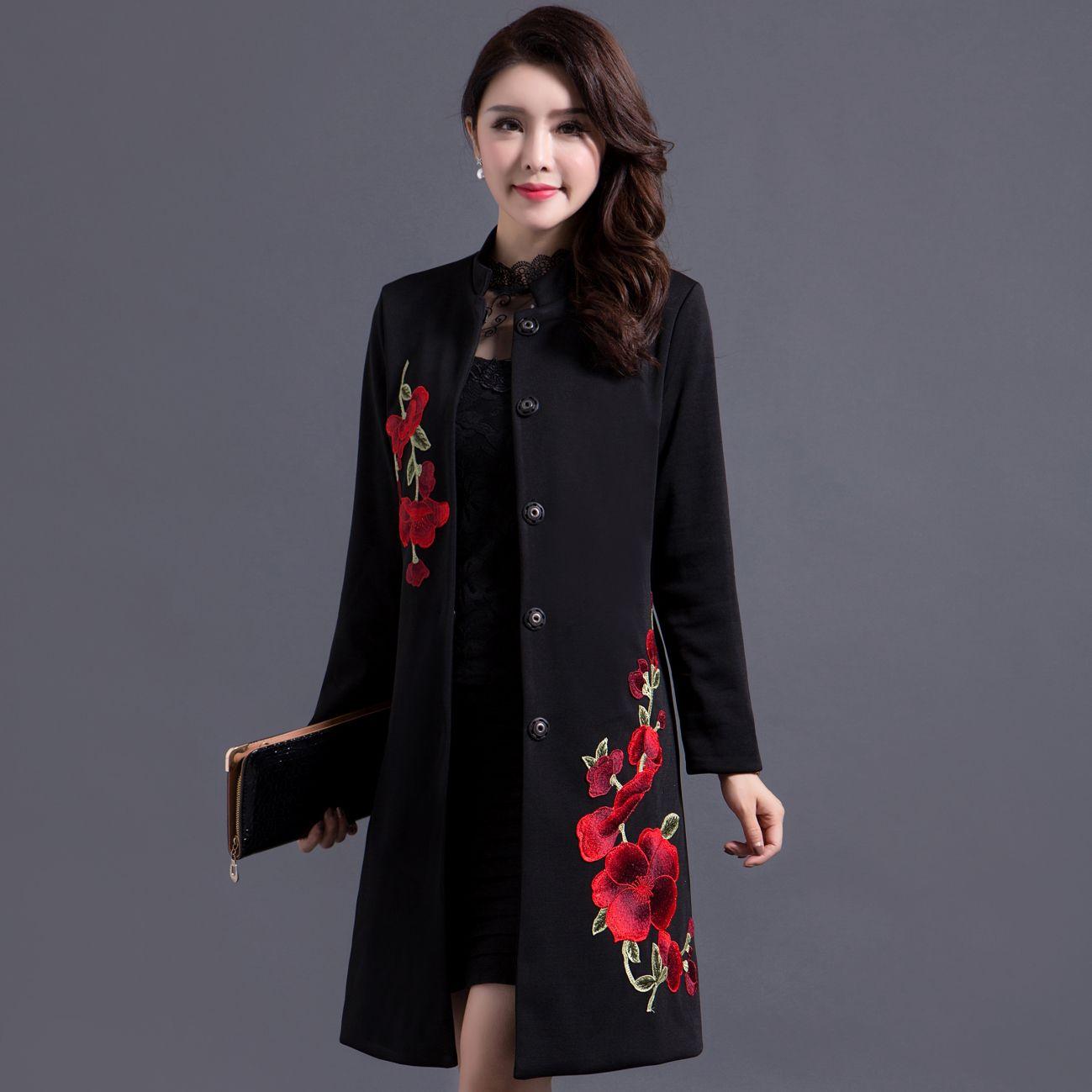 Пальто с вышивкой 2017 112