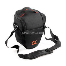 Wholesale- Triangle Camera Bag Waterproof Case Bag for SONY A100 A200 A300 A350 A700 A900 Free Ship+Tracking