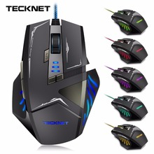 TeckNet Gamer 7000DPI Optical Wired Gaming Mouse Gamer For Laptop PC Computer accessories(China)